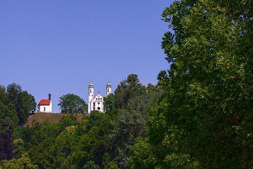 Forest, Hill, Landscape, Nature, Sky, Bad Tölz Germany