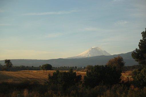 Volcano, Mountain, Mexico, Puebla, Popocatepl, Travel