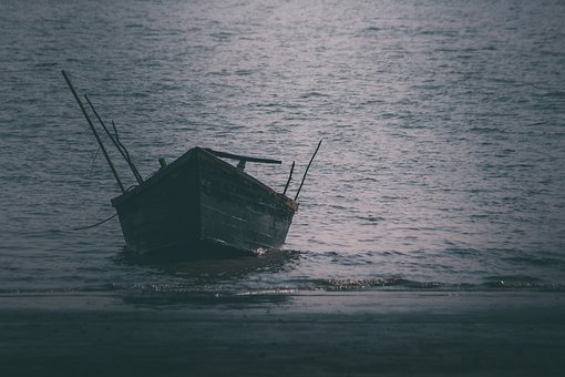 Boat, Sea, Sunset, Ocean, Water, Sky, Fishing, Nature