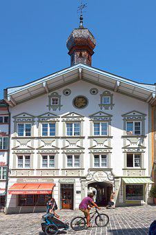 Town Hall, Old, Facade, Tower, Architecture, Building