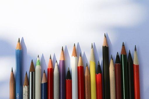 Pencil, Pencils, Writing, Paper, Drawing, Bin, Desk