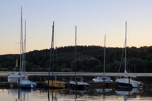 Sailing Boats, Lake, Water, Blue, Sky, Landscape, Mood