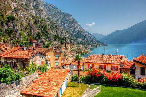 Limone, Garda, Italy, Vacations, Lake, Summer