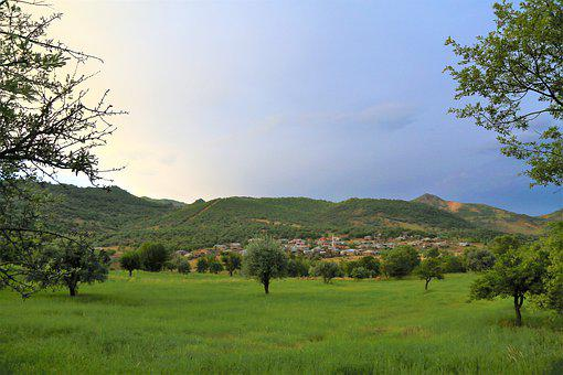 Landscape, Village, Nature, Forest, Clouds, Travel, Sky