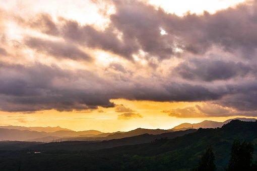 Landscape, Sunset, Nature, Evening, Sky, Village