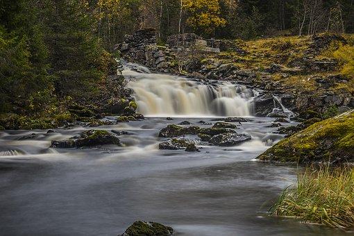 Waterfall, Norway, Nature, Landscape, Stream