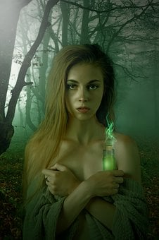 Absinthe, Fairy, Green, Green Fairy, Witch, Fantasy