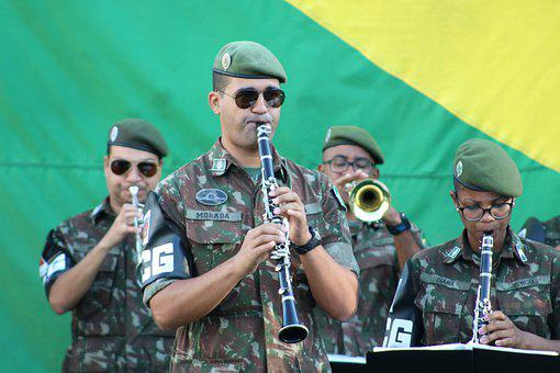 Band, Fanfare, Army, Brazil, Instrumental, Music