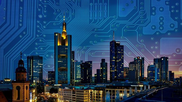 Smart, City, Circuit, Board, Technology, Connected