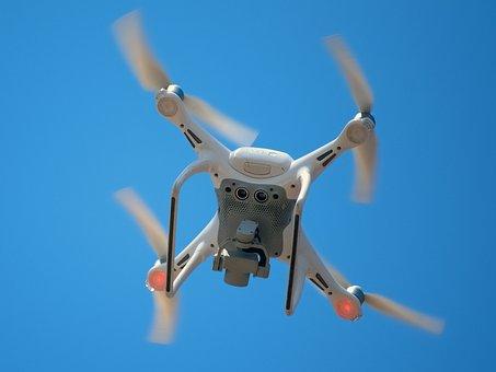 Drone, Camera, Spy, Quadrocopter, Propeller, Rotors