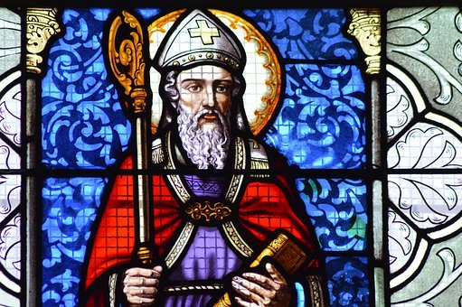 Stained Glass, Window, Church, Colorful, Saint, Martin
