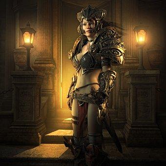 Fantasy, Warrior, Female, Woman, Sword, Magic, Fighter