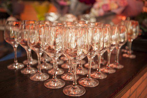Wine Glasses, Holiday, Feast, Many Glasses, Order