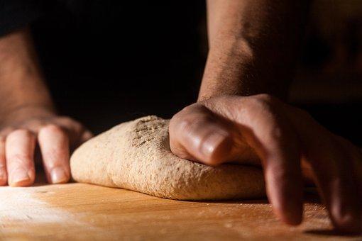 Flour, Dough, Knead, Kitchen, Food, Hand, Hands, Wheat