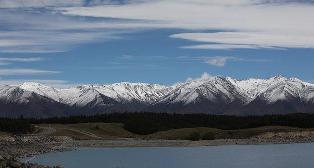 New Zealand, Alpine Panorama, South Island, Lake