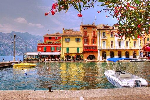 Garda, Malcesine, Italy, Vacations, Landscape, Water