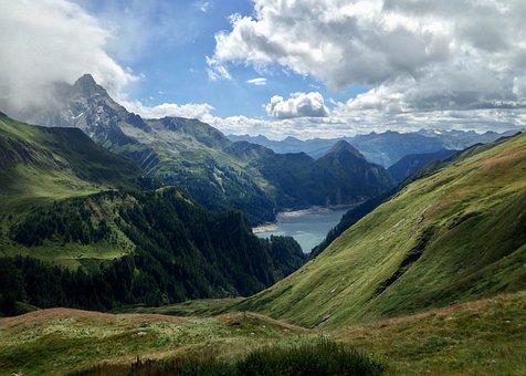 Lago Di Luzzone, Lake, Mountains, Alpine, Landscape