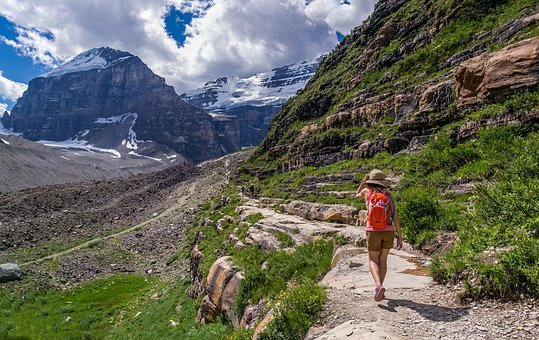 Hiker, Canada, Nature, Landscape, Mountain, Travel