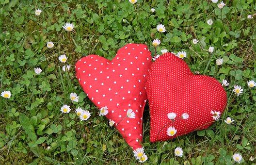 Heart, Romantic, Valentine, Pair, Red, Valentine's Day