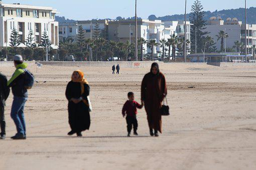 Arabs, Family, Kids, Women, People, Relaxation, Walk