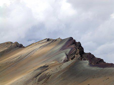 Ridge, Mountains, Cordillera De Vilcanota, Rainbow