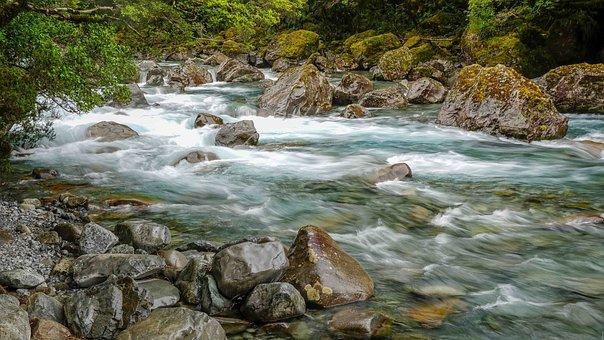 River, Rocks, Torrent, Stream, Whitewater, Creek