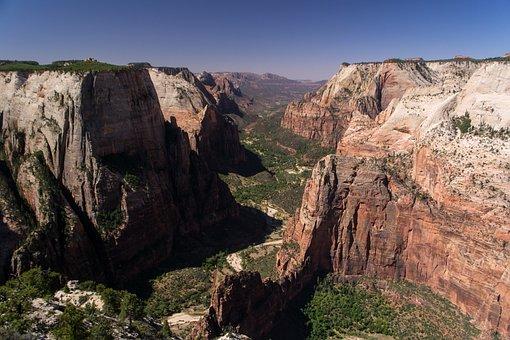 Zion, Park, Canyon, Utah, Landscape, Usa, Rock, Nature