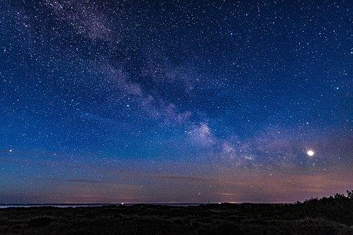Milky Way, Beach, Sea, Landscape, Nature, Night, Water