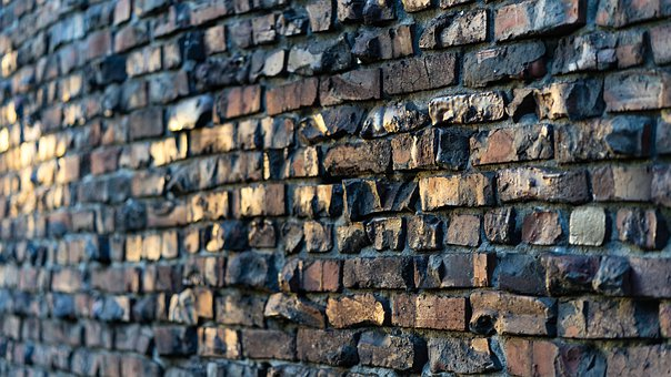 Brick, Wall, Seattle, Sunset, Texture, Pattern, Stone