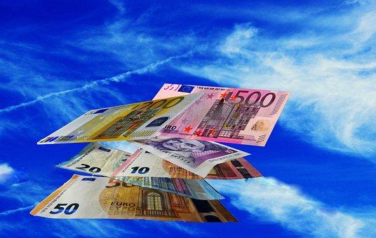 Money, Money Rain, Currency, Euro, Gift, Seem
