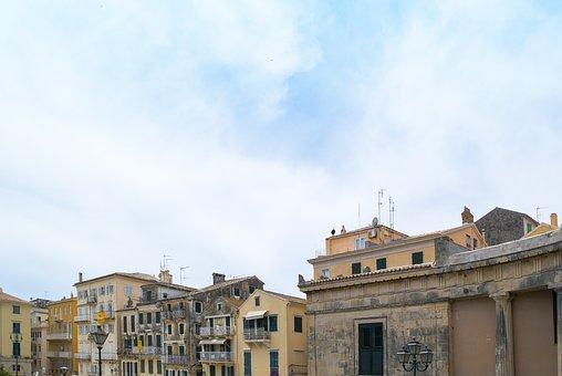 Tight, Town, Old, House, City, Greece, Greek, Corfu