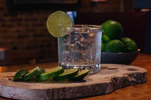 Cocktail, Gin, Tonic, Lime, Bar, Liquor, Alcohol, Drink