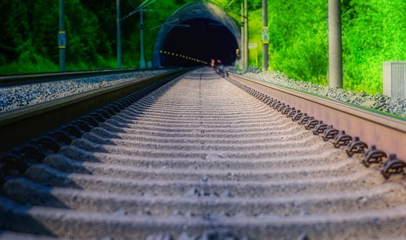 Track, Rails, Tunnel, Route, Ice, Train