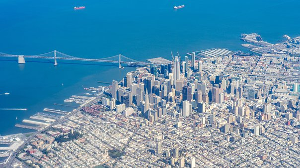 San Francisco, Above, View, City, Usa, Destination