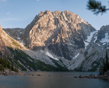 Hiking, Lake, Mountains, Backpacking, Washington