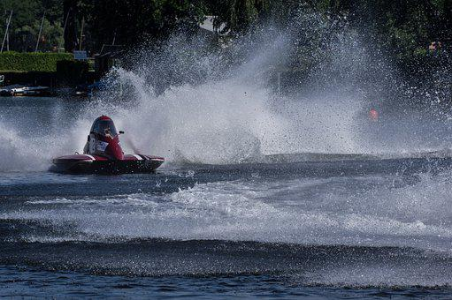 Spray, Water Fountains, Motor Boat Race, Water Sports