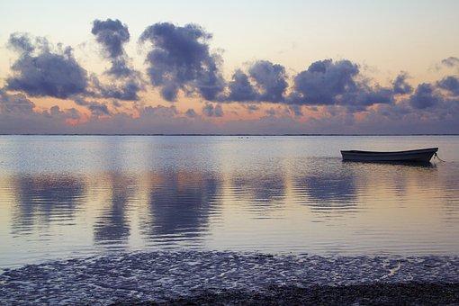 Tanzania, Zanzibar, Africa, Dawn, Boat, Wooden Boat
