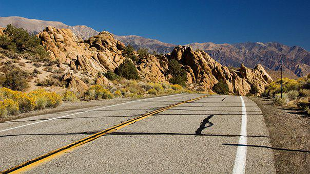 Road, California, Usa, Highway, America, Route, Asphalt
