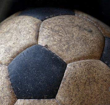Football, Old, Play, Round, Ball, Sport