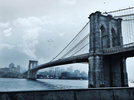 Brooklyn Bridge, New York, Uban, Brooklyn, Bridge