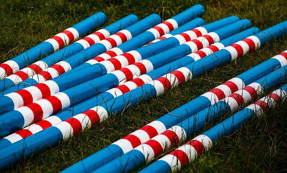 Colourful, Poles, Wooden Poles, Bright
