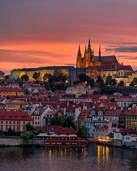 Prague, Cathedral, Gothic, Church, Czech, Castle