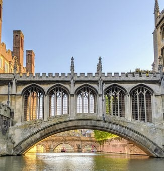 Oxford, Bridge, England, Historic, Building