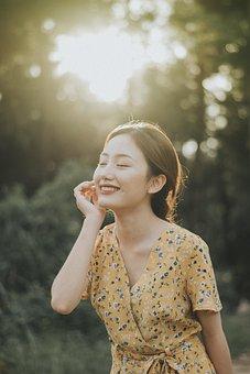 Sunny, Girl, Happy, Female