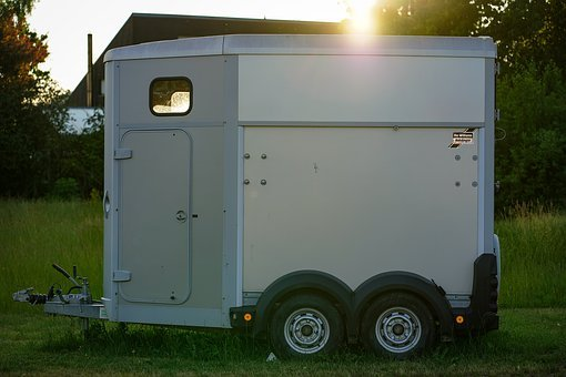 Trailers, Horse Trailer, Silver, Grey, Attach, Drag