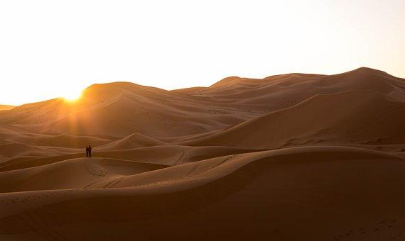 Desert, Sand, Dry, Landscape, Dunes, Sahara, Hot