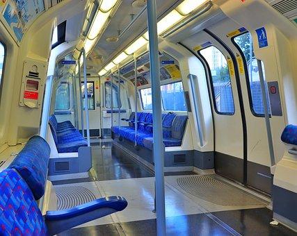 Tube, Underground, Carriage, Train, London, Inside
