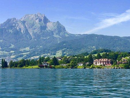 Switzerland, Mount Pilatus, Lucerne, Lake, Mountains
