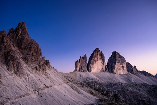 Mountains, Blue Sky, Nature, Sky, Panorama, Atmosphere