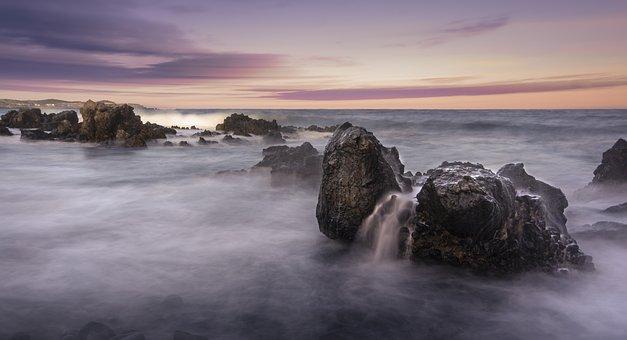 Sunset, Sea, Ocean, Beach, Sky, Sunrise, Nature